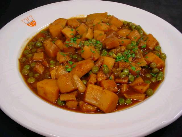 Cuttlefish with Green Peas-