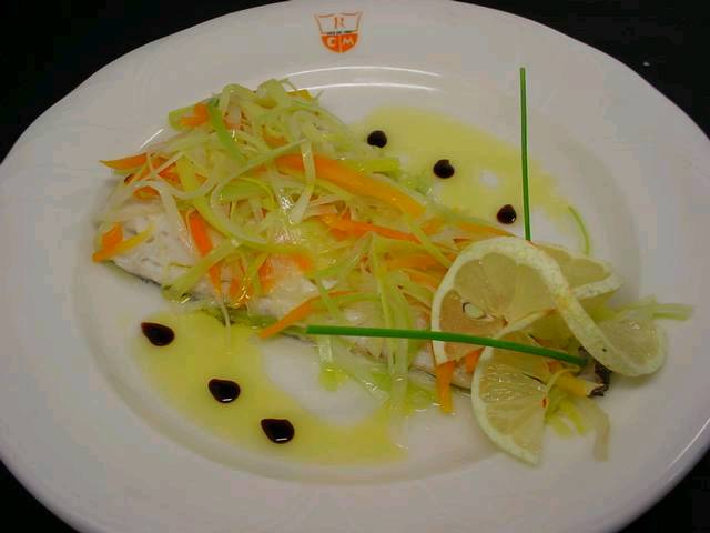 Steamed Hake with Vegetables-