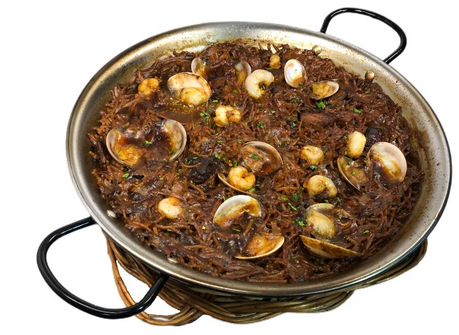 """Noodles Paella """"Fideuà"""" Mixed (Min 2 people Price/pers.)-*"""